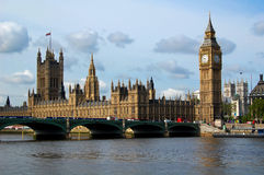 The Houses of Parliament. View of the Houses of Parliament across the river Thames Royalty Free Stock Photos