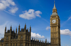 The Houses of Parliament. View of the Houses of Parliament and the Big Ben Royalty Free Stock Image