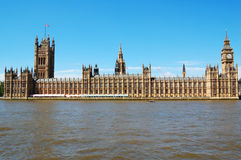 The Houses of Parliament. And the Big Ben in a clear day Stock Images