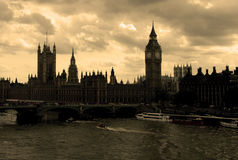 Houses of Parliament. View of the Houses of Parliament in London, UK Royalty Free Stock Images