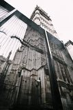 Houses of parliament behind fence Royalty Free Stock Images