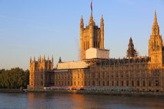 Houses of Parliament Being Repaired Stock Photo