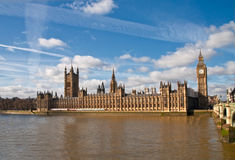 Houses of parliament and Big Ben Royalty Free Stock Photos