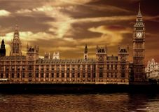 Houses of parliament - big ben Royalty Free Stock Image