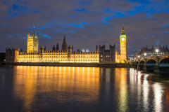 Houses of Parliament and Big Ben Stock Photos