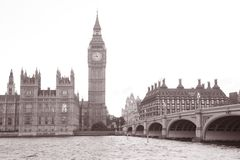 Houses of Parliament and Big Ben Stock Photos