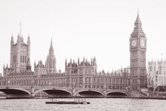 Houses of Parliament and Big Ben Stock Image