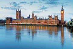 Houses of parliament - Big ben, england, UK Stock Photography