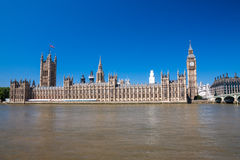 Houses of Parliament and Big Ben Stock Photography