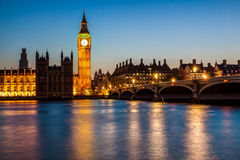 Houses of Parliament and Big Ben Stock Images
