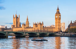 Houses of Parliament and Big Ben in London Stock Photos