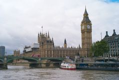 The Houses of Parliament and Big Ben in London stock image