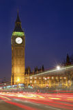 Houses of Parliament and Big Ben at Night, London Royalty Free Stock Images