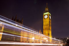 Houses of Parliament and Big Ben at Night, London Stock Image