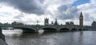 Houses of Parliament Big Ben and Westminster Bridge Stock Photos