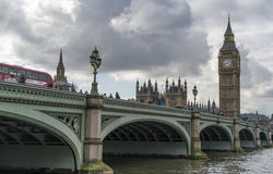 Houses of Parliament Big Ben and Westminster Bridge. England United Kingdom Royalty Free Stock Photography