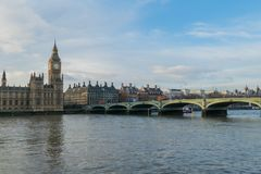 Houses Of Parliament, Big Ben And Westminster Bridge In London, UK. Stock Photography