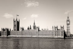 Vintage Big Ben in Westminster, London Stock Photography