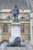 Houses of Parliament with Cromwell Statue and Monument, Westmins Royalty Free Stock Images