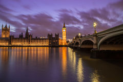 Houses of Parliament at Dusk Stock Photos