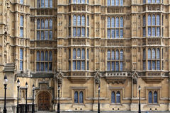 Houses of Parliament Facade Royalty Free Stock Images