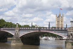 Houses of Parliament and Lambeth Bridge; London Stock Images