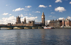 The Houses of Parliament in London Stock Photo
