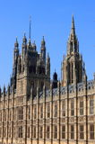 Houses of Parliament in London stock image