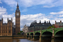 Houses of Parliament in London. In the summer Royalty Free Stock Image