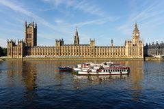 The Houses of Parliament in London Stock Photos