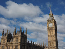 Houses of Parliament in London. Houses of Parliament aka Westminster Palace of London, UK Royalty Free Stock Photos