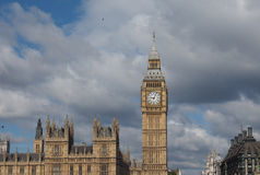 Houses of Parliament in London. Houses of Parliament aka Westminster Palace of London, UK Stock Images