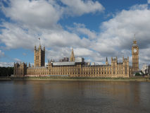 Houses of Parliament in London. Houses of Parliament aka Westminster Palace of London, UK Stock Photography