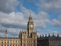 Houses of Parliament in London. Houses of Parliament aka Westminster Palace of London, UK Stock Image