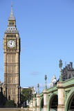 Houses of Parliament, London, Big Ben clock tower with Westminster Bridge vertical Stock Photos