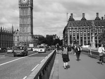 Houses of Parliament in London black and white Stock Photos
