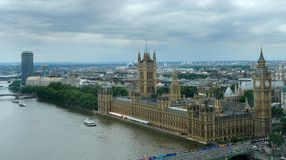 Houses of Parliament and London City Stock Photos