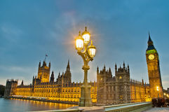 Houses of Parliament at London, England. Houses of Parliament building at London, England Royalty Free Stock Photo