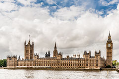 Houses of Parliament, London, England. View of The Houses of Parliament from across the River Thames in London, United Kingdom Royalty Free Stock Image