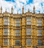 Houses of Parliament in London (hdr). LONDON, UK - CIRCA JUNE 2017: Houses of Parliament aka Westminster Palace (high dynamic range Royalty Free Stock Images
