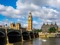 Houses of Parliament in London, hdr. LONDON, UK - CIRCA JUNE 2017: Houses of Parliament aka Westminster Palace, high dynamic range Stock Photos