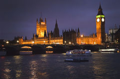 Houses of Parliament. London Houses of Parliament at twilight Stock Images