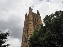 Houses of Parliament in London. LONDON, UK - CIRCA JUNE 2017: Houses of Parliament aka Westminster Palace Royalty Free Stock Photo