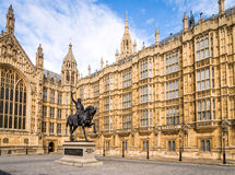Houses of Parliament, London. The walls of the UK seat of government, The Houses of Parliament, a classic example of gothic architecture Stock Photography