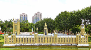 Houses of parliament, london at window of the world, shenzhen, china Royalty Free Stock Photo