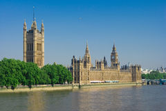 Houses Of Parliament in the morning Royalty Free Stock Photos