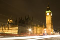 The Houses of Parliament at night Stock Photos