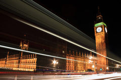 Houses Of Parliament at night Stock Images