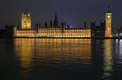 Houses of Parliament at Night Royalty Free Stock Image