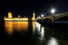 Houses of Parliament night Royalty Free Stock Photography